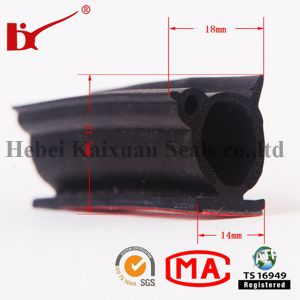 EPDM Extruded Foam Rubber Strip with Good Quality pictures & photos