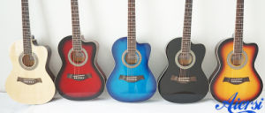 China 36 and 38 Inch Small Size Colour Acoustic Guitar pictures & photos