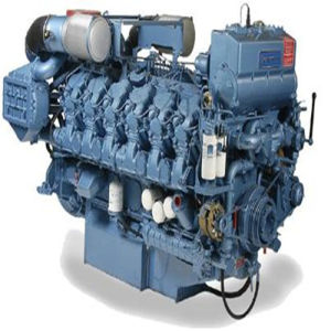 Weichai Wp12c400 400HP Marine Diesel Engine with Gearbox pictures & photos
