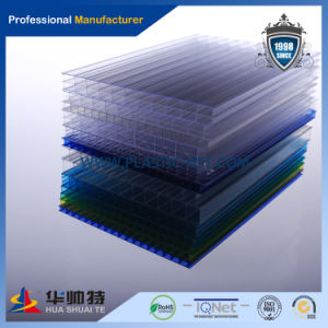 Lexan Flexible Double Wall Polycarbonate Hollow Sheet Supplier pictures & photos