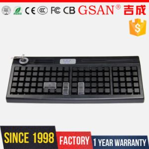95 Keys POS Programmable Keyboard with Mag Card Reader pictures & photos