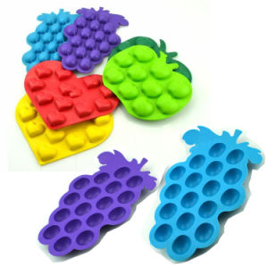 Grade Apple Heart Shape Silicone Ice Tray Ice Mold pictures & photos