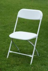 Top Sell Plastic Folding Chair with Reinforced Steel Frame pictures & photos