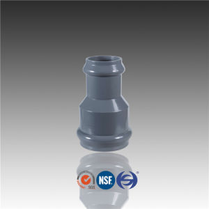 PVC Gasket Connector Coupling Reducer with Rubber Ring Fitting pictures & photos