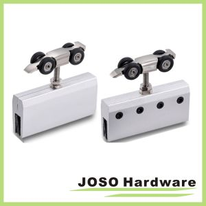Frameless Slide Door Roller System Zinc Hanger Roller pictures & photos