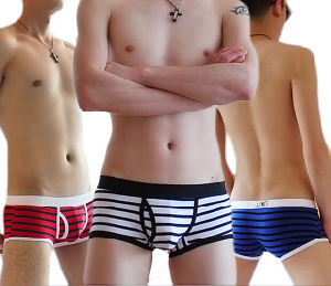 Cotton/Spandex Stripe Fashion Man Boxer Shorts pictures & photos
