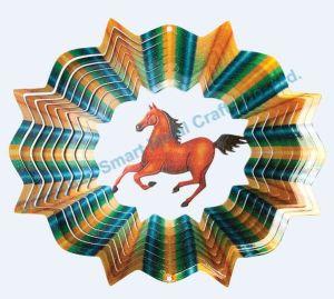 Laser Cut Horse Wind Spinner