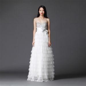 Ld0062 White Dress Evening Dress Wedding-Party Dress 2016