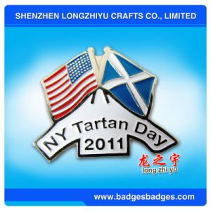 New York Tartan Day American Flag Badge pictures & photos