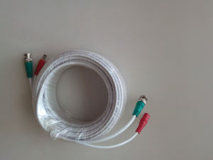 White CCTV Cable of BNC Video Cable for Security Surveillance Camera