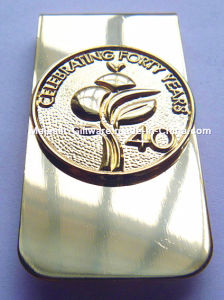 Customized Plating Gold Money Clip pictures & photos