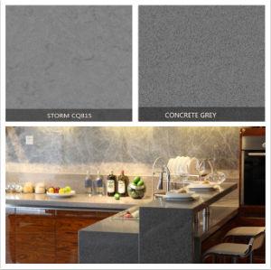 Wholesale Indian Price Grey Series Artificial Quartz Stone Texture Table Top pictures & photos