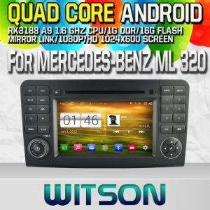 Witson S160 Car DVD GPS Player for Mercedes-Benz Ml 320 with Rk3188 Quad Core HD 1024X600 Screen 16GB Flash 1080P WiFi 3G Front DVR DVB-T Mirror-Link (W2-M213) pictures & photos