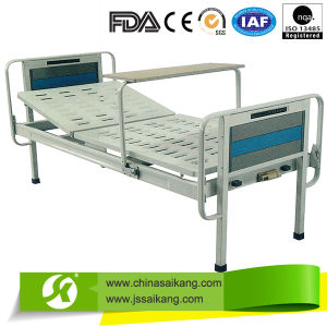 Manual Hospital Bed Single Crank One Function with Feet pictures & photos