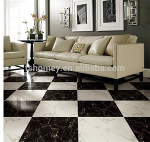 Full Polished Porcelain Glazed Jazz White Tile for Black and White Design From Foshan Factory pictures & photos