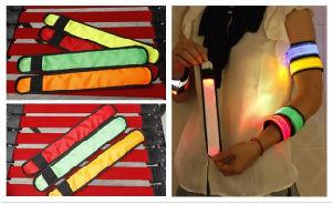 Night Jogging Safety LED Slap Bracelets pictures & photos