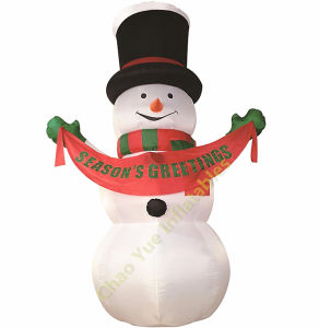 Cute Inflatable Snow Man for Christmas Day pictures & photos