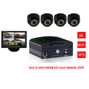 4 CH HDD Mobile DVR CCTV 4 Channel Full D1 DVR H. 264 Real-Time pictures & photos