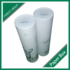 Custom Paper Cardboard Tube with Gold Hot Stamping for Champagne Bottle Packaging pictures & photos