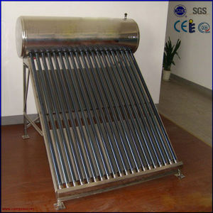 CE Low Pressure Stainless Steel Solar Water Heater (JingGang) pictures & photos