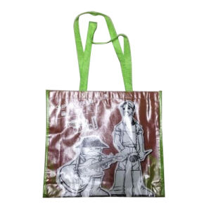 PP Non-Woven Shopping Tote Bag with Button on The Top