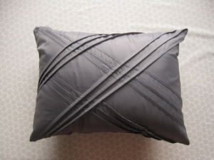 Mercury Pleats Solid Color Oblong Pillow pictures & photos