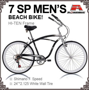 24 Inch 7 Speed Disc Brake Longer Beach Bicycle (ARS-2404S) pictures & photos