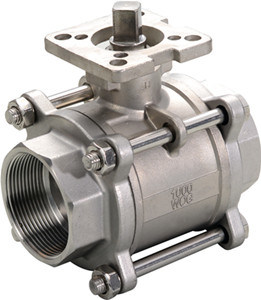 Stainless Steel Thread 3PC Ball Valve with High Platform pictures & photos