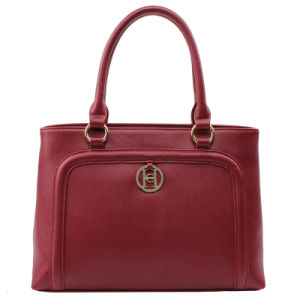 Elegant Business Women Saffiano PU Tote Handbag (C71257) pictures & photos