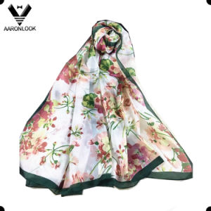 High Quality Colorful Flower Famous G20 Hangzhou Women Silk Scarf pictures & photos