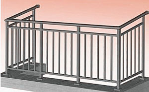 Building Balcony Fence Metal Fence Balcony Guardrail pictures & photos