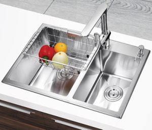 18 Guage Ss304 Stainless Steel Handmade Kitchenware Sink (YX845)