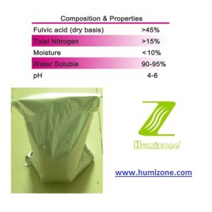 Humizone Fulvic Acid Fertilizer: High Nitrogen Fulvate pictures & photos