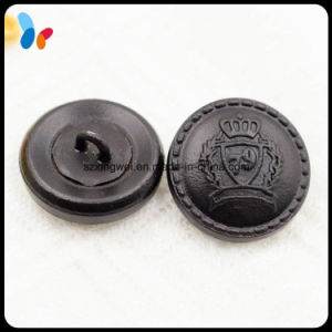 Custom Black Genuine Leather Sewing Button Men Suit Button pictures & photos