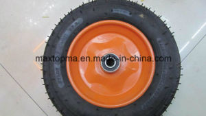 Maxtop Quality Pneumatic Wheelbarrow Rubber Wheel pictures & photos