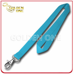 Supply Blank Pure Color Promotion Polyester Lanyard with Metal Hook pictures & photos