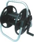 U Style Portable Aluminium Bracket Plastic Garden Hose Reel Cart