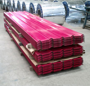 Red Corrugated Steel Roof Tile pictures & photos