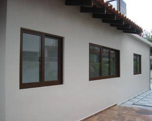 High Quality Bronze Color Aluminum Sliding Window with Grill Design pictures & photos