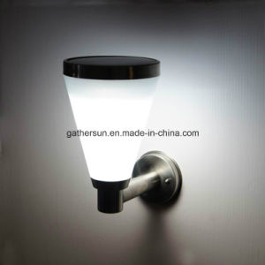 Solar Wall Light with Plastic Lampshade pictures & photos