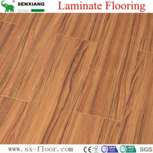 Imitate Teak Hardwood Realistic Feel High Gloss Laminated Flooring