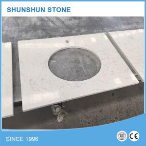 Artificial White Sparkle Quartz Stone Countertop for Kitchen pictures & photos