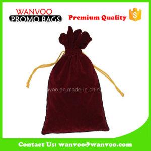 Wholesale Promotional Big Size Travel Drawstring Velvet Wine Bag pictures & photos
