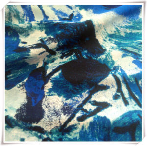 Polyester Chiffon Watercolor Printing Fabric with Spandex pictures & photos