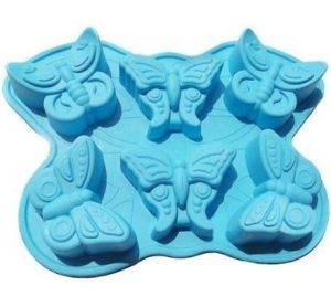 Amazon Vendor 6 Cavities Butterfly Silicone Cake Baking Mold Pan pictures & photos