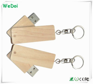 Best Seller Wooden USB Stick with Metal Keychain (WY-W37) pictures & photos