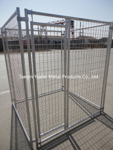 Fenced Dog Kennel House Outdoors 10X10X6 Pet Playpen House Chain Link Supplies pictures & photos