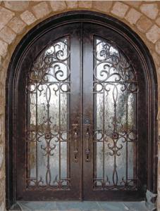 Sz-D30 American Standard Wrought Iron Entrance Door pictures & photos
