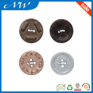 Wholesales Fashion Imittation Leather Effect Plastic Button