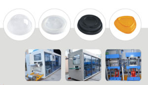 High Speed Automatic PP Lid/Cover/Cap Thermoforming Machinehigh Speed Automatic PP Lid/Cover/Cap Thermoforming Machine pictures & photos